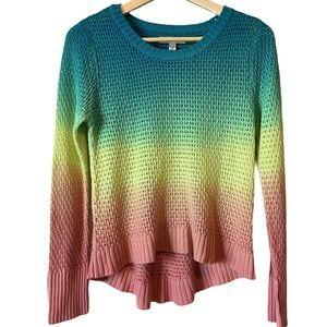 Billabong rainbow ombré sweater
